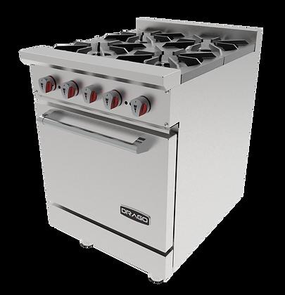 Estufa 4 quemadores y horno GES-040-00 DRAGO