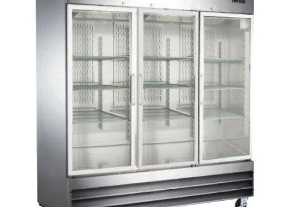 Refrigerador 3 puertas de cristal Icehaus