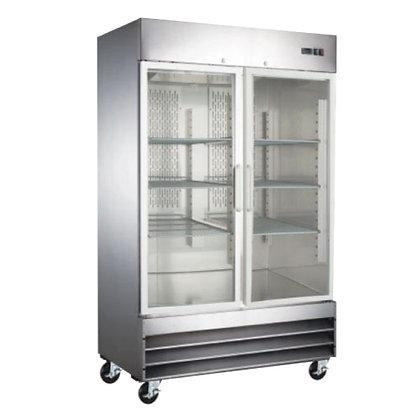 Refrigerador 2 puertas de cristal Icehaus