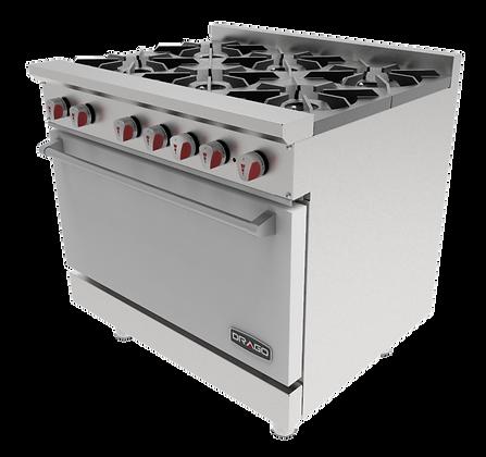 Estufa de 6 quemadores y horno GES-060-00 DRAGO
