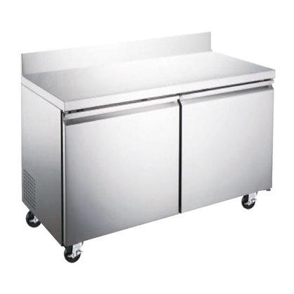 Mesa de trabajo refrigerada 2 puertas 12 pies Icehaus