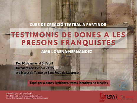 cartell testimonis dones a les presons f