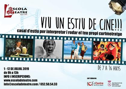 Cartell Estiu de Cine 2019 - Sant Feliu.