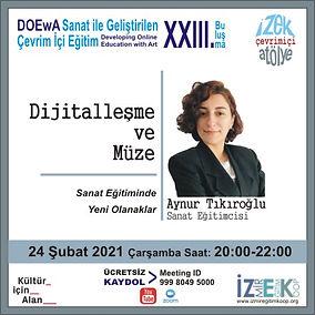Sanat Eğitimi, İZEK, Aynur Tıkıroğlu