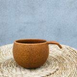 ÅBENLYS - Keramik Kaffekop - Hasselnød