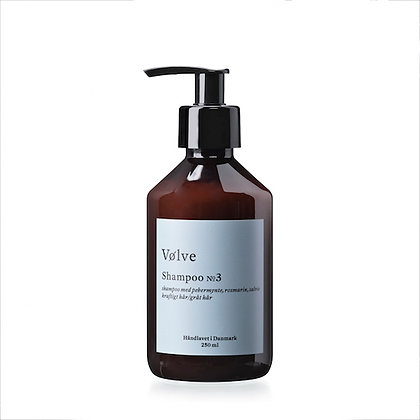 Shampoo No. 3 med rosmarin, salvie og pebermynte