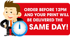 We print and deliver same day in Leeds