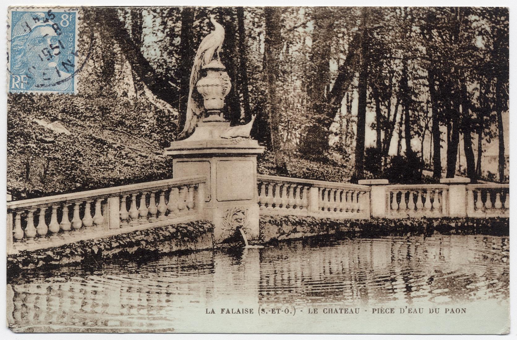 La pièce d'eau du Paon, 1893