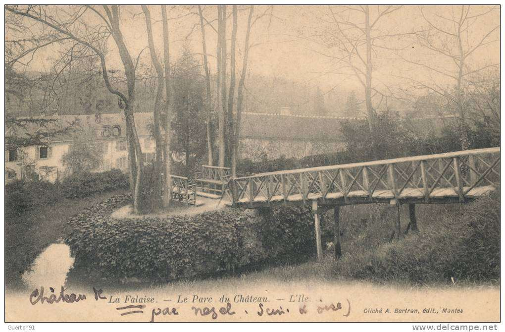 L'ile du Parc du Château, début XXe