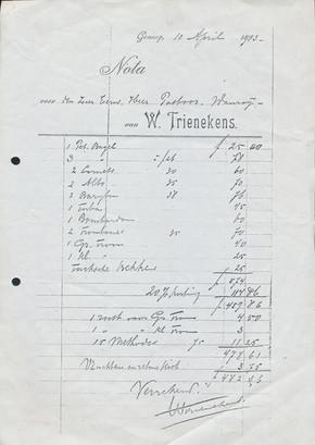 1913 | De eerste instrumenten