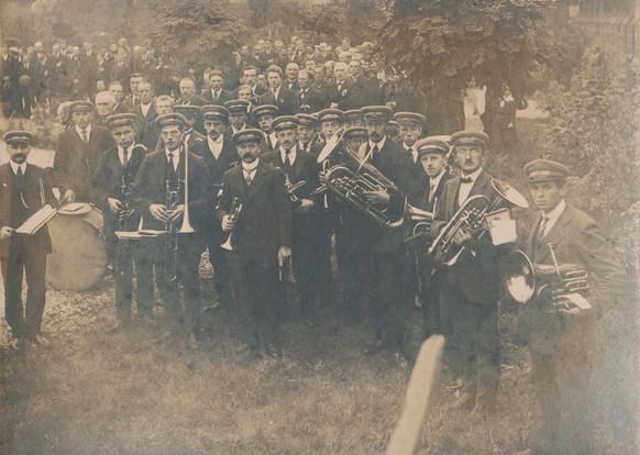 Ca. 1918 | Kerkelijke fanfare 'St. Jan'