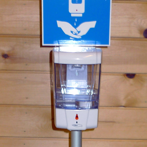 Single Sided Hand Gel Dispenser with Signage