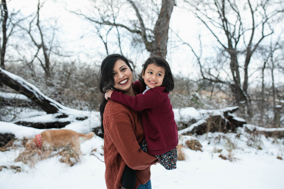 mom and daughter family session