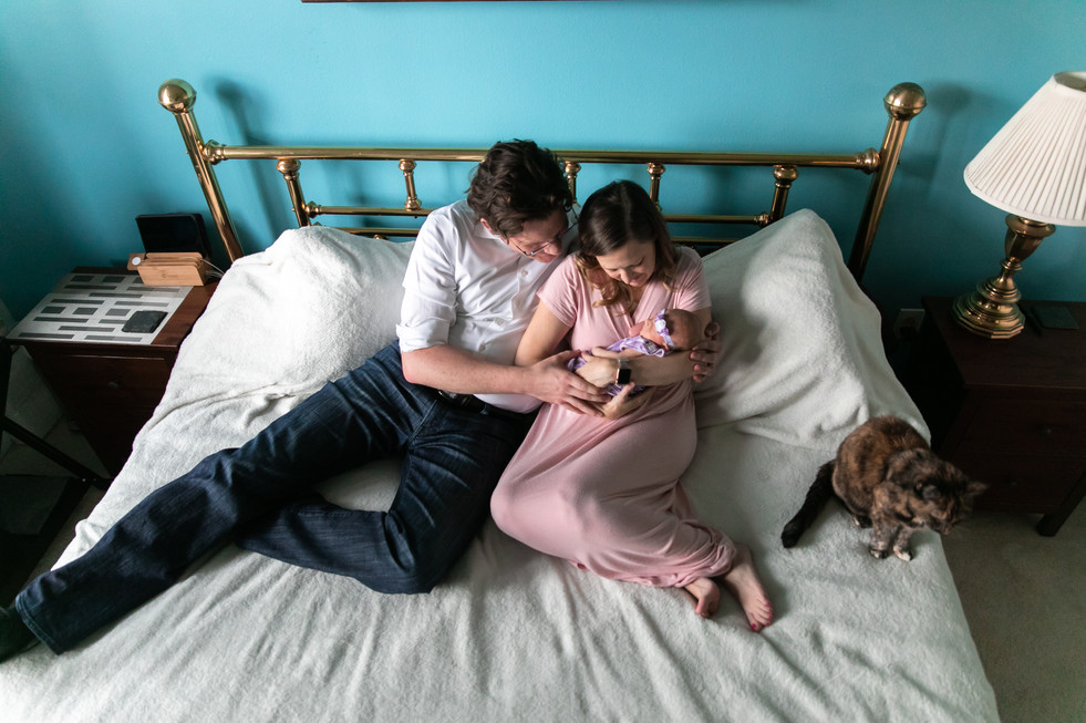 Newborn family photos