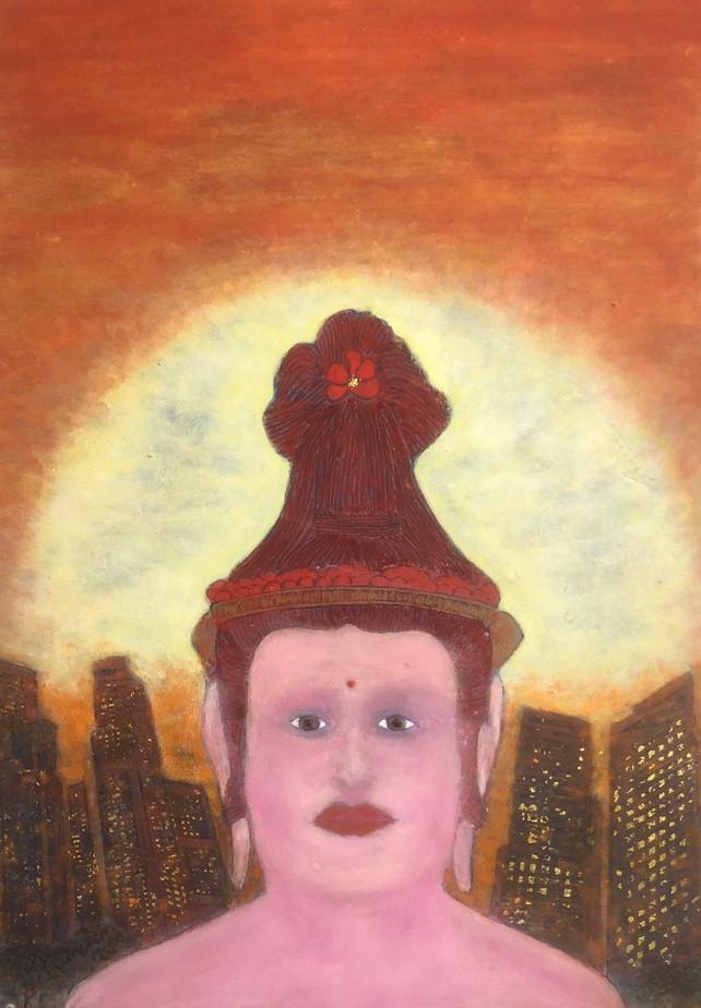 お父様による伸子さんの肖像画