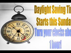 Daylight Saving Time - March 14, 2021