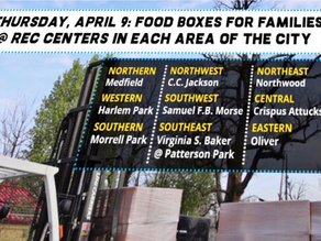 April 9:  Food boxes for families