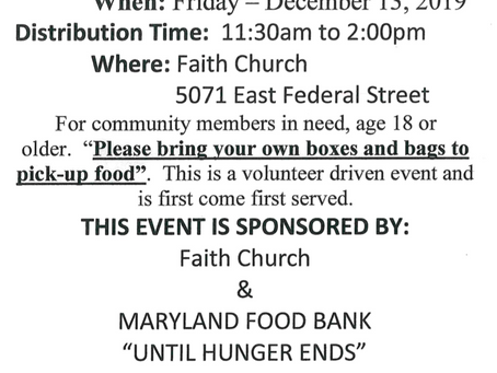 Food Distribution for the AG Community!