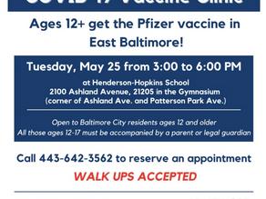 May 25: COVID Vaccine Clinic