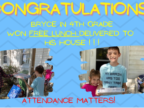 And the perfect attendance lucky winner for September is....
