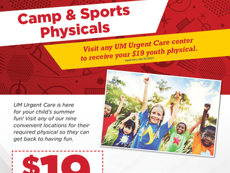 Sports Physicals for 2021-2022 School Year