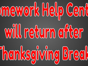 Homework Help Center Takes a Break