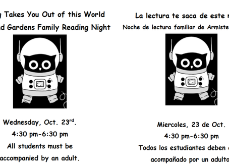 Family Reading Night will be out of this world!