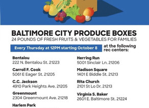 October 8: Fresh Produce boxes at the Rec Center