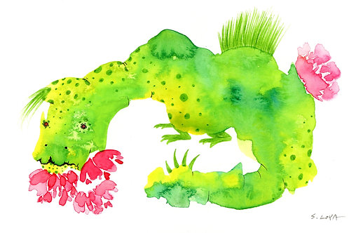 Flower Loving Splotch Monster