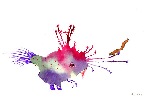 Squirrel loving Splotch Monster