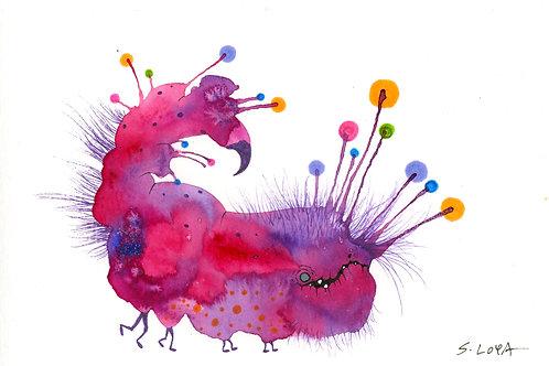 Fuzzy Blinky Splotch Monster