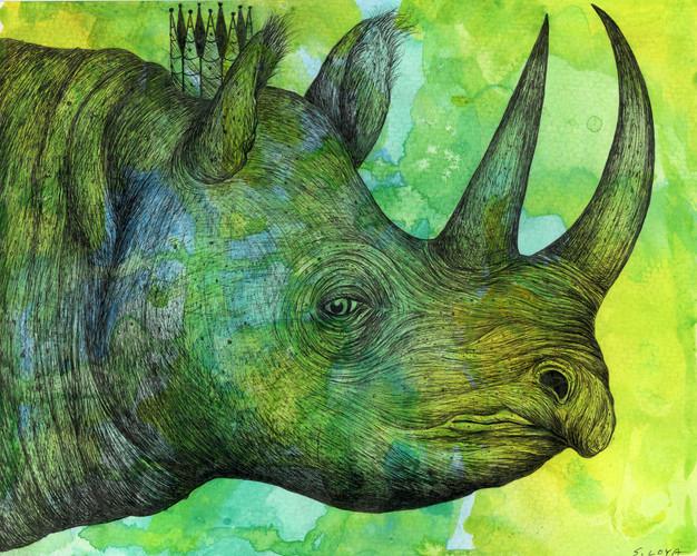 Endangered Kingdom series: Black Rhinoceros