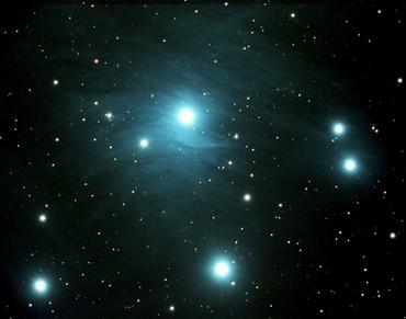 A Closeup of the Pleiades