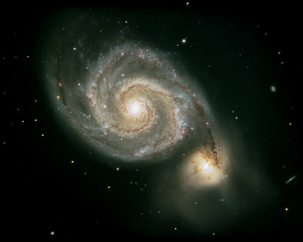 Whirlpool Galaxy tidal star formation in spiral arms