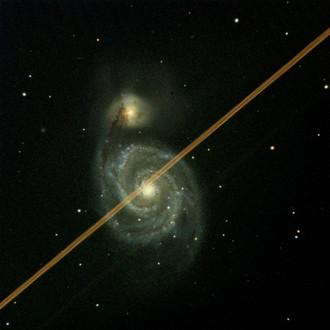 Whirlpool Galaxy Photobombed