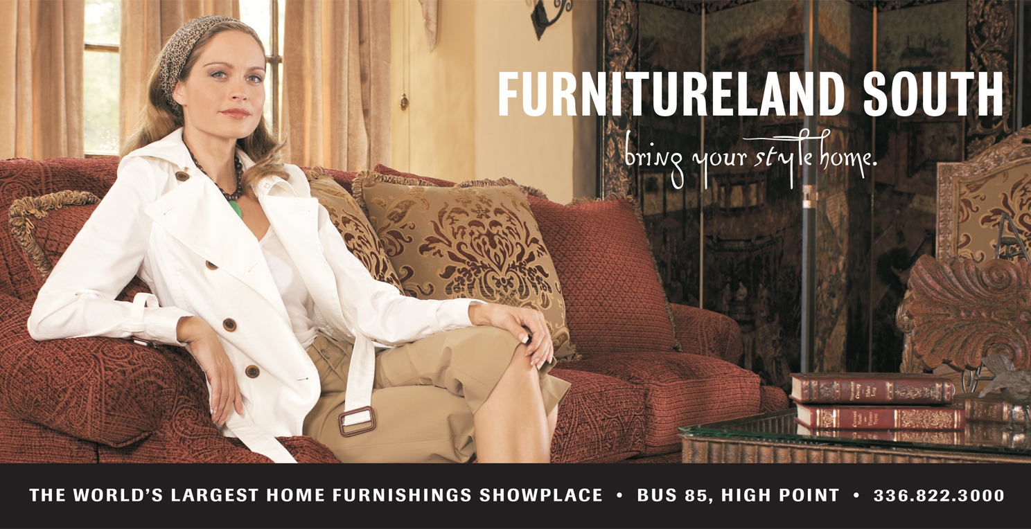 Model in living room