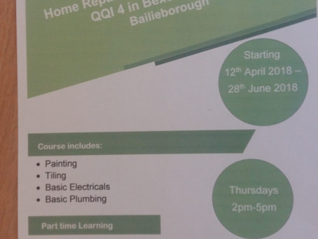Home Repairs & Maintenance Course (QQI Accredited)