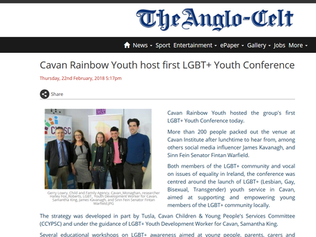 Cavan Rainbow Youth host first LGBT+ Youth Conference