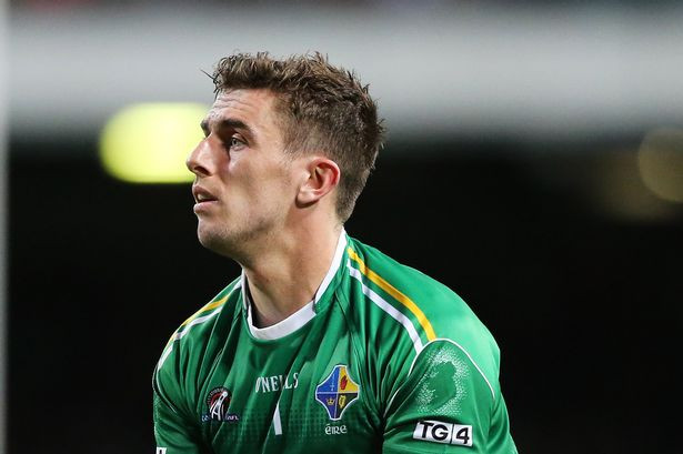 Colm Begley in action for Ireland