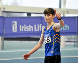 Cian McPhillips (pictured above after breaking the Irish U-18 1500m record)