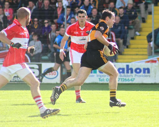 (Source: Austin Stacks GAA) Mikey Collins in action for Austin Stacks.
