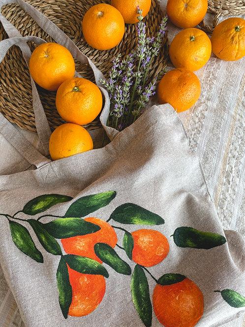 """Tote bag """"Les oranges"""""""
