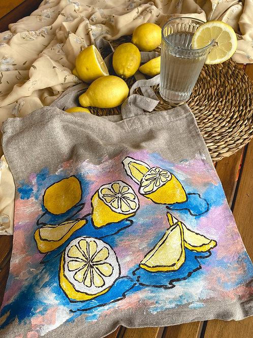 """Tote bag """"limones en verano"""""""