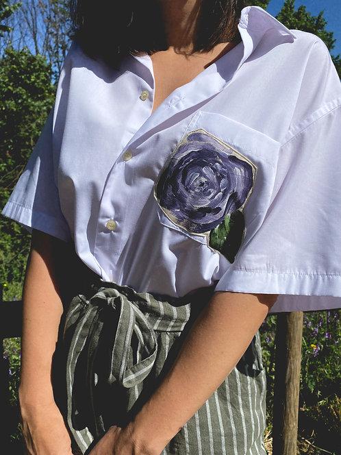Camisa Le printemps blanche