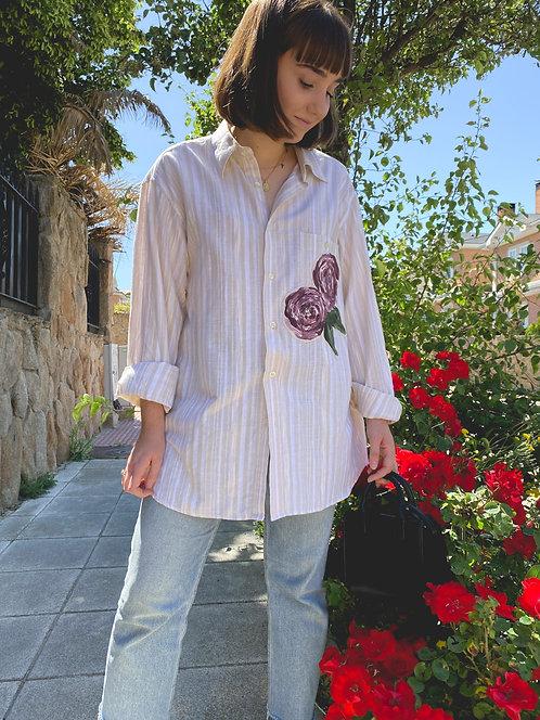 Camisa Le printemps deux roses