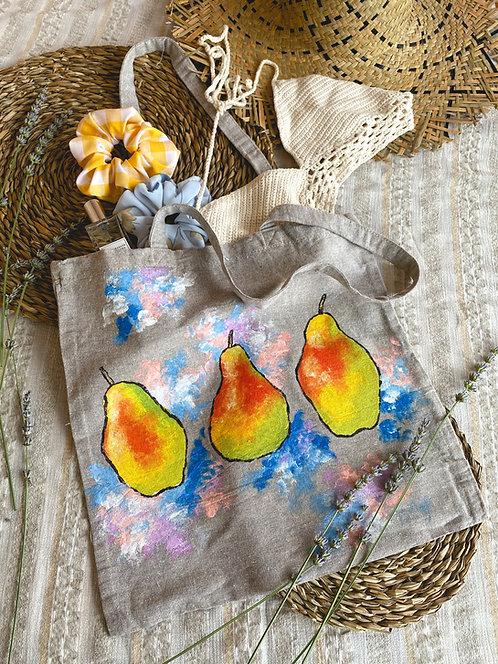 """Tote bag """"pear art"""""""