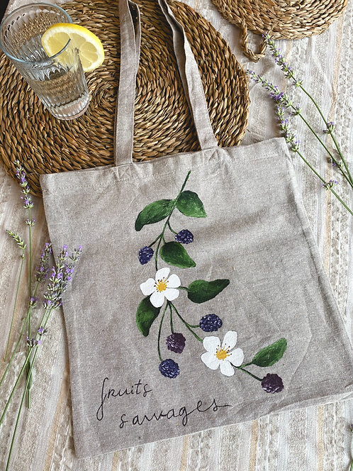 """Tote bag """"fruits sauvages"""""""