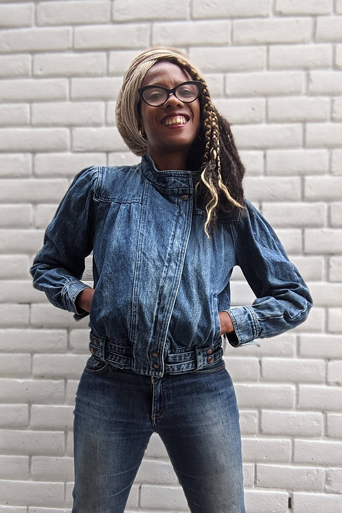 vintage 80s denim jacket