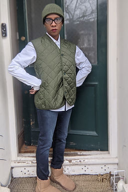 Cool Quilted vintage Vest M L