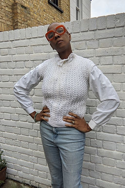 Simple handmade white crochet pullover